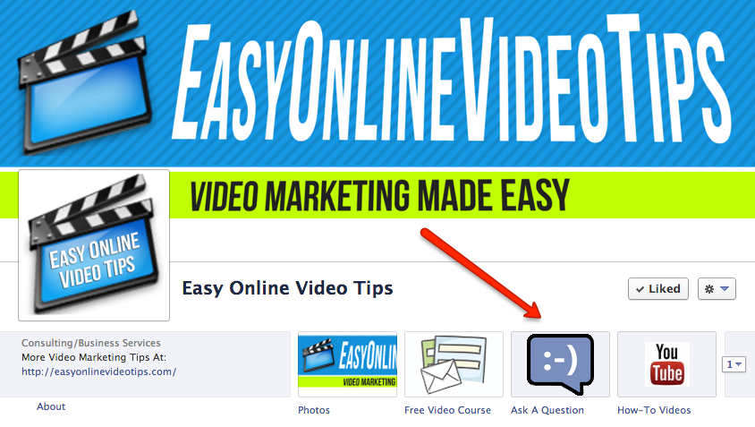 Online Video Marketing Questions - Ask Them On My Easy Online Video Tips Facebook Fan Page